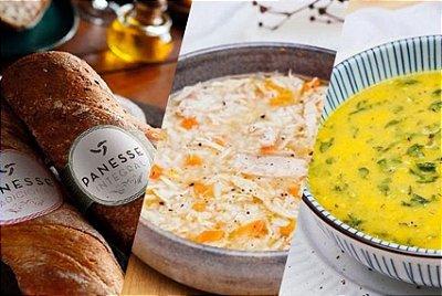 Kit Sopa Light + Pão Artesanal Panesse | Custo médio por cada refeição: R$19,35