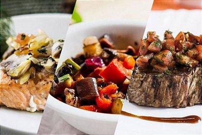 Kit Delícias Light  – 10 combinados (almoço ou jantar)  | Porção Individual