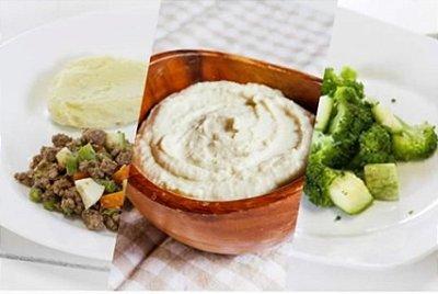 Carne Moída + Purê de Batata doce com Gengibre + Brócolis 300g | Porção Individual | Produto acondicionado a vácuo