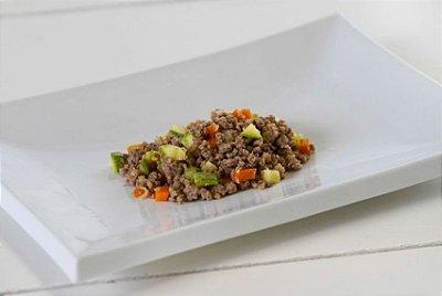 Carne Moída Temperada 100g | Porção Individual | Produto acondicionado a vácuo