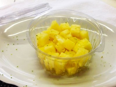 Abacaxi em Cubos com Raspas de Limão 150g
