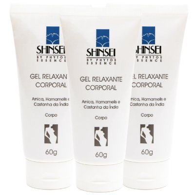 Kit Gel Relaxante Corporal - 60g - 3 Unidades