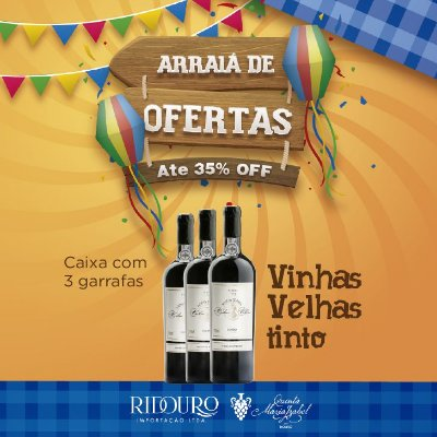 PROMOÇÃO DE SÃO JOÃO - Maria Izabel Vinhas Velhas tinto 2017, 750ml, caixa com 3 garrafas