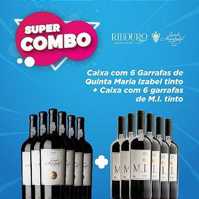 SUPER COMBO - Quinta Maria Izabel 2012 tinto c/ 6 garrafas M.I. tinto grátis