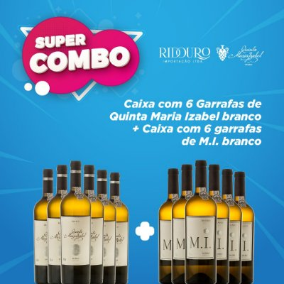SUPER COMBO - Quinta Maria Izabel 2017 branco c/ 6 garrafas M.I. branco grátis