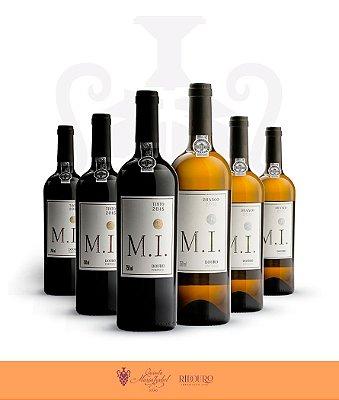 M.I., 750ml, em caixa com 6 garrafas de vinho tinto e/ou branco