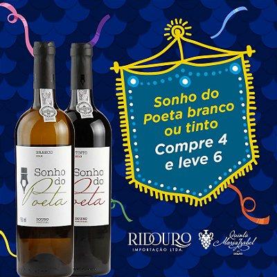 PROMOÇÃO DE CARNAVAL SONHO DO POETA, tinto, 750ml, compre 4 leve 6 garrafas