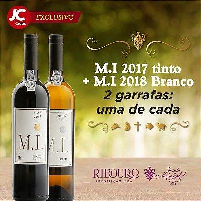 PROMOÇÃO EXCLUSIVA JC CLUBE - M.I. 2017 TINTO + M.I. 2018 BRANCO (1 garrafa de 750ml de cada, inclui sacola de presente e FRETE GRÁTIS na RMR)