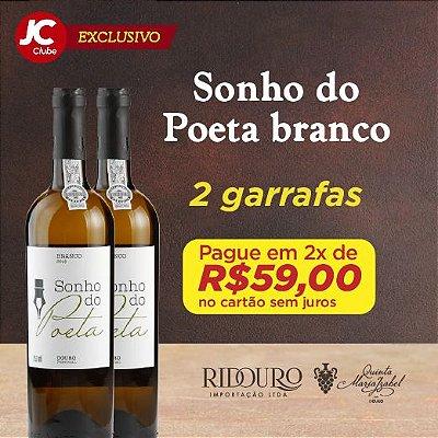 """""""PROMOÇÃO EXCLUSIVA JC CLUBE   MAIO DAS MÃES"""" - 2 GARRAFAS DE SONHO DO POETA BRANCO c/frete grátis na RMR + Sacola"""