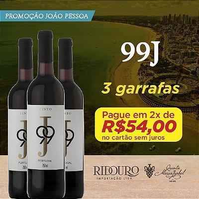 PROMO JOÃO PESSOA - 3 GARRAFAS DE 99J