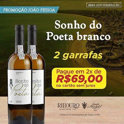 PROMO JOÃO PESSOA - 2 GARRAFAS DE SONHO DO POETA BRANCO