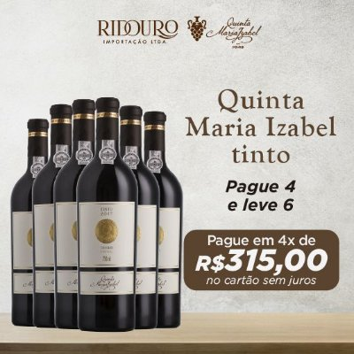 Promoção Quinta Maria Izabel, 2015, tinto, 750ml, caixa com 6 garrafas