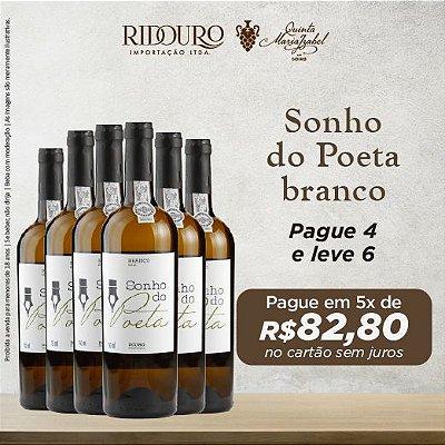 Promoção Sonho do Poeta 2017, branco, 750ml, caixa com 6 garrafas