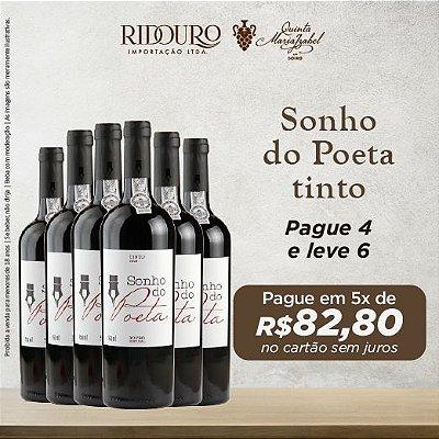 Promoção Sonho do Poeta 2017, tinto, 750ml, caixa com 6 garrafas