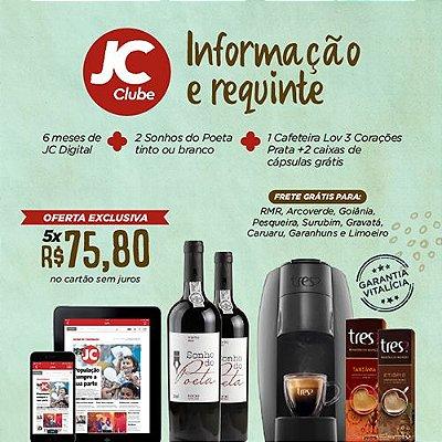 """EXCLUSIVO PARA PERNAMBUCO!! - Promoção Ridouro + JC Clube + 3 Corações - """"Combo 2"""""""