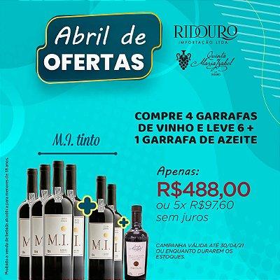 ABRIL DE OFERTAS - M.I. 2018, tinto, 750ml, caixa 4+2 garrafas+1 garrafa de Azeite