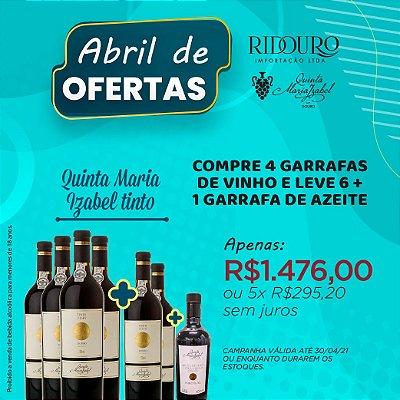 ABRIL DE OFERTAS - QUINTA MARIA IZABEL, 2012, tinto, 750ml, 4+2 garrafas+1 garrafa de Azeite
