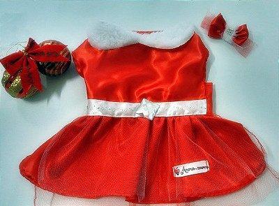 Vestido de Natal com Laço
