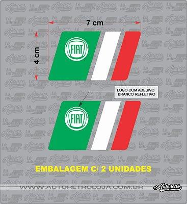 Adesivo Fiat Italia (par) 2 Unidades