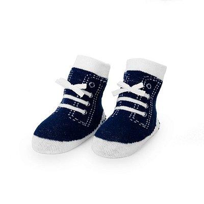 Meia Sapatinho Dudu Azul Marinho (Tam 12-24 meses)