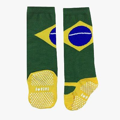 Meia 3/4 Letiti Bandeira Brasil
