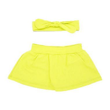 Shorts Saia + Faixinha Amarelo Neon
