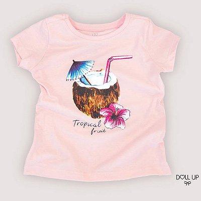 Camiseta tropical fruit manga curta menina