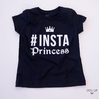 Camiseta Insta Princess manga curta menina