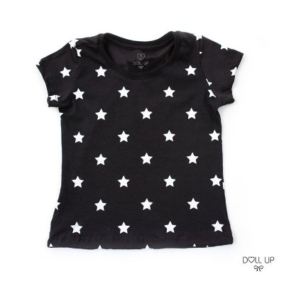 Camiseta Estrelas manga curta menina
