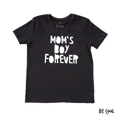 Camiseta Mom's boy forever manga curta menino
