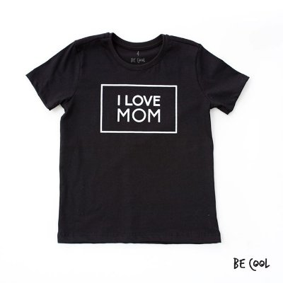 Camiseta I love mom manga curta infantil