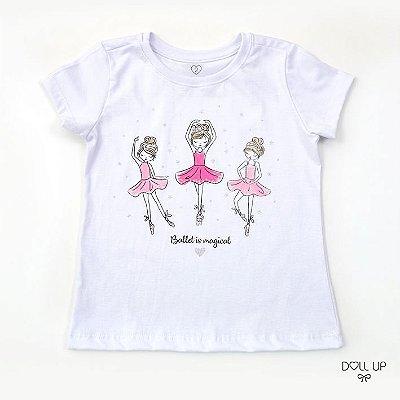 Camiseta Ballet is Magical manga curta menina