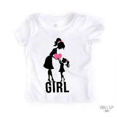 Camiseta Mamãe e filhinha coração manga curta menina