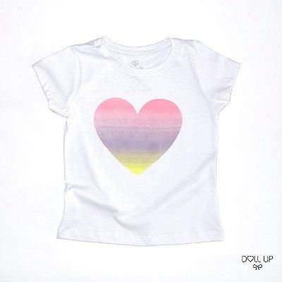Camiseta Coração Tie Dye manga curta menina