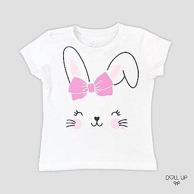 Camiseta Coelhinha manga curta menina