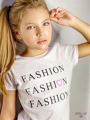 Camiseta Fashion manga curta menina