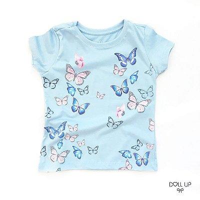 Camiseta Borboletas manga curta menina