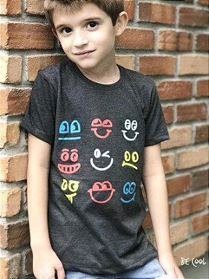 Camiseta Rostinhos manga curta menino