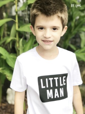 Camiseta Little Man manga curta menino