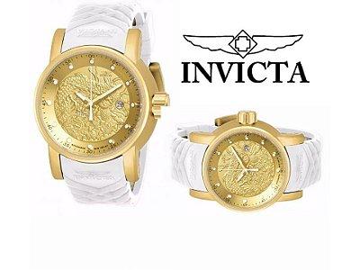 Relógio Invicta Dragon S1 Branco Unissex Promoção