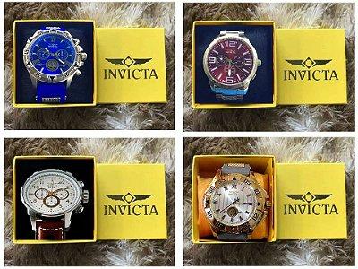 Kit 05 Relógios Masculinos  Invicta + 5 Relógios MK Femininos