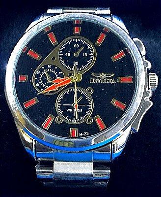 Replica de Relógios Invicta Prata Com Pulseira de Aço