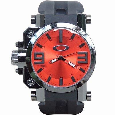 Réplica de Relógio Oakley Gearbox Vermelho Promoção