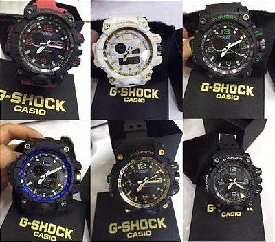 Kit 12 Relógio Casio G Shock Digital e Analógico Com Luz Led