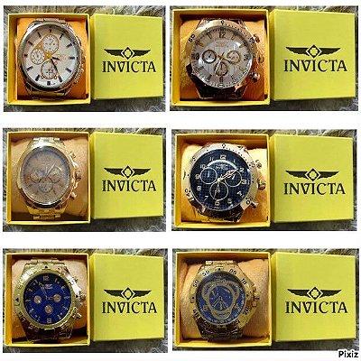 kit 12 Relógios Invicta Replicas Perfeitas Baratos Atacado