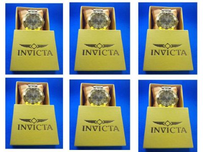 Kit 06 Relógios Masculinos Invicta Replicas Com Caixa