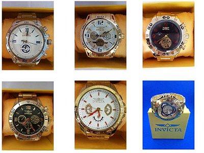 Kit 20 Relógios Masculinos Invicta Replicas Com Caixa