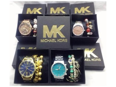 Kit 10 Relógios Michael Kors Com Caixinha e Pulseira