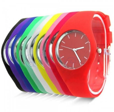Kit 10 Relógios Femininos Em Silicone No Atacado