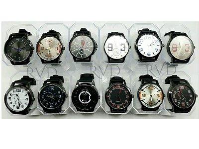 Kit 10 Relógios Masculinos Pulseira de Silinone Atacado